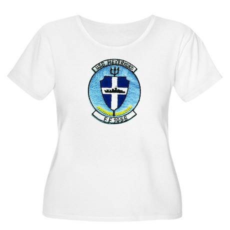 USS MEYERKORD Women's Plus Size Scoop Neck T-Shirt