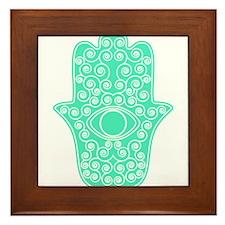 Hamsa Framed Tile