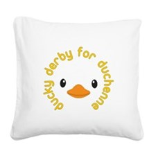 ducky derby Square Canvas Pillow