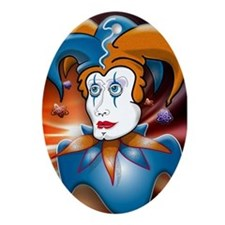 Cosmic Court Jester Ornament (Oval)