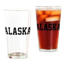 Unique Polar bear flag Drinking Glass