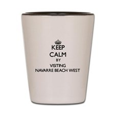 Funny Navarre beach florida Shot Glass