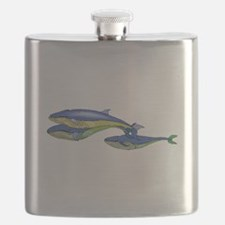 Blue Whales Flask