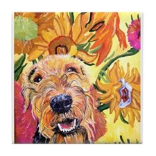 Airedale terrier Tile Coaster