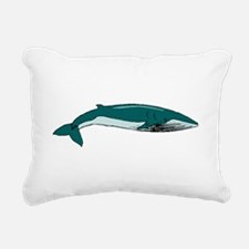 Blue Whale Rectangular Canvas Pillow