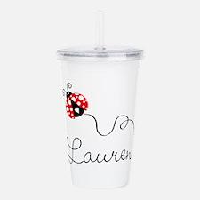 Ladybug Lauren Acrylic Double-Wall Tumbler