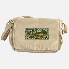 Green Oar Fish Messenger Bag