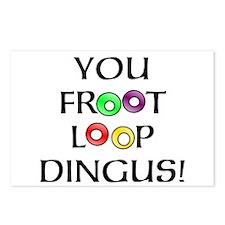 Froot Loop Dingus! Postcards (Package of 8)