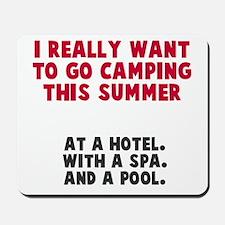 Camping this summer Mousepad