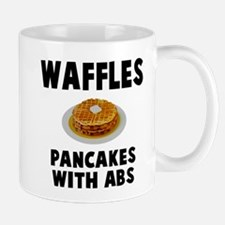 Waffles pancakes with abs Mugs