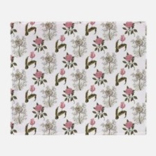 Cool Spring floral Throw Blanket