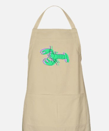 Abstract Green Lobster Apron