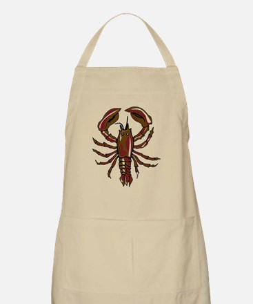 Dark Red Lobster Apron