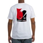 Nobody Surfs Like a Wahine Fitted T-Shirt