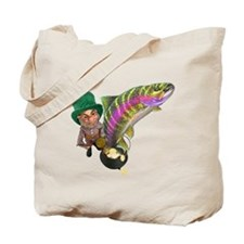 Me Lucky rainbow Trout Tote Bag