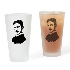 Nikola Tesla Cutout Drinking Glass