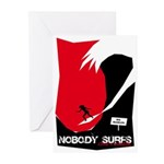 Nobody Surfs Like a Wahine Greeting Cards (Pk of 1