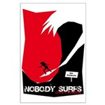 Nobody Surfs Like a Wahine Large Poster