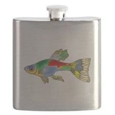 Colorful Guppy Fish Flask