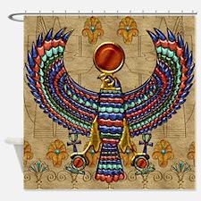 Harvest Moons Egyptian Hawk Shower Curtain