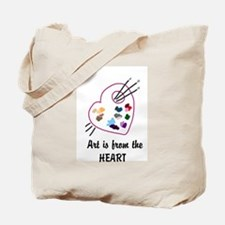 Art is from the Heart Tote Bag