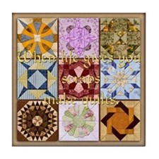 Harvest Moons Quilts Tile Coaster