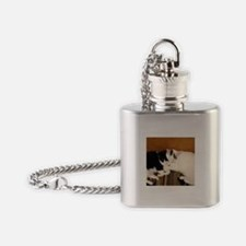 Two cuddly cats Flask Necklace
