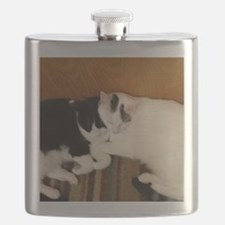 Two cuddly cats Flask