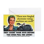 Newfangled Voting Machines Greeting Cards (6)