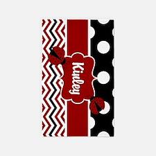 Ladybug Red Black Personalized 3'x5' Area Rug