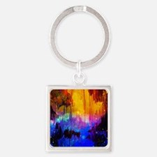 Castles in the Mist Abstract Keychains