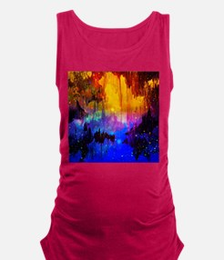 Castles in the Mist Abstract Maternity Tank Top