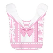 Posh! Pink Sailor Bib