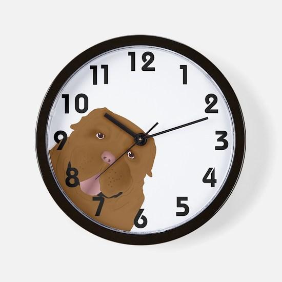 Cute Dogue de bordeaux Wall Clock