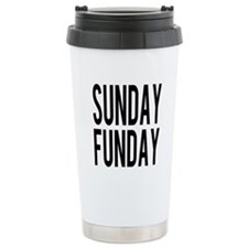 Sunday Funday (black) Travel Mug