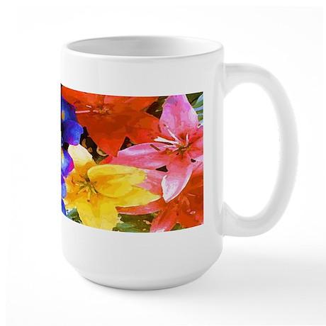 Tropical Flowers in Bloom Large Mug