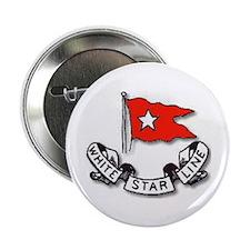 """Cute White star line 2.25"""" Button"""