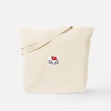 Cute White star line Tote Bag