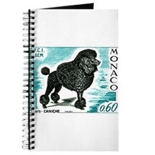 1975 Monaco Dog Show Poodle Postage Stamp Journal