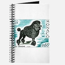1975 Monaco Dog Show Poodle Postage Stamp Journal