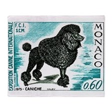1975 Monaco Dog Show Poodle Postage Stamp Throw Bl