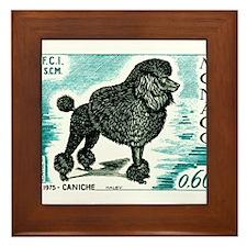 1975 Monaco Dog Show Poodle Postage Stamp Framed T