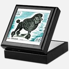 1975 Monaco Dog Show Poodle Postage Stamp Keepsake