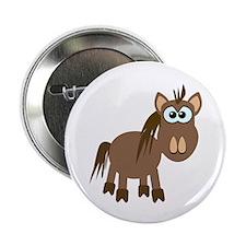 "Gookfins Silly Little Horse/Pony 2.25"" Button (10"