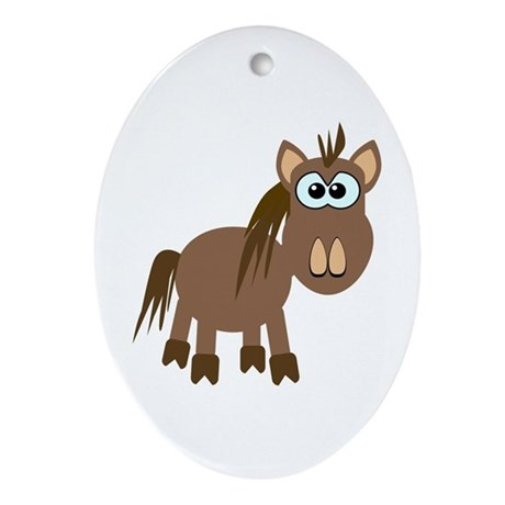 Gookfins Silly Little Horse/Pony Oval Ornament