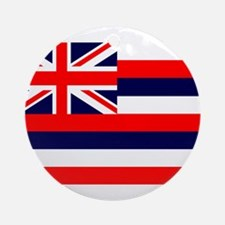 Hawaii State Flag Ornament (Round)
