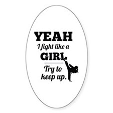 Fight Like a Girl - black Decal
