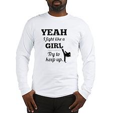Fight Like a Girl - black Long Sleeve T-Shirt