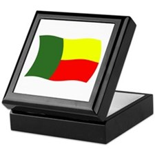 Benin Flag 2 Keepsake Box
