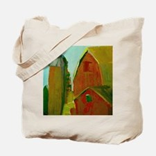 Old Red Barns And Silo Tote Bag